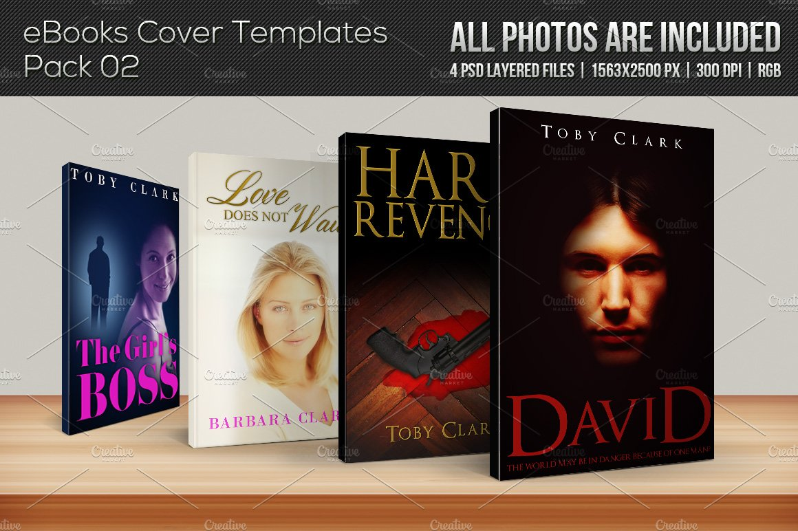 free ebook covers templates - 4 ebook cover templates pack 02 templates creative