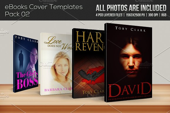 4 ebook cover templates pack 02 templates creative market