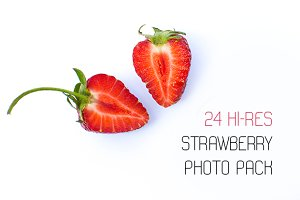 24 strawberry photo pack