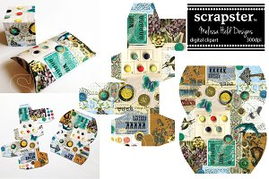 Vintage Collage Gift Box Templates