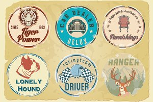 Vintage logotype badges