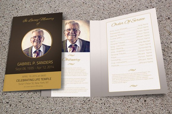 funeral program template bi fold brochure templates creative