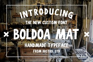 Boldoa Mat Handmade Typeface