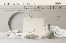 Branding&Cosmetics mockup pack by  in Mockups
