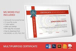 Multipurpose Certificate 02