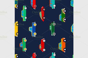 Seamless vector pattern with cars