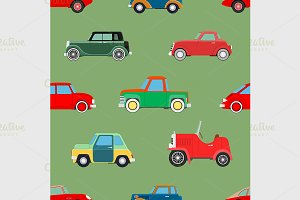Seamless wallpaper of cars