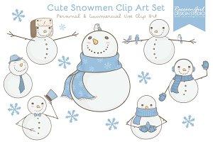 Cute Snowmen Clip Art