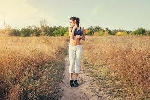 Beautiful slim sporty woman