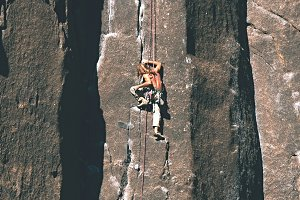 Climber in Yosemite Park