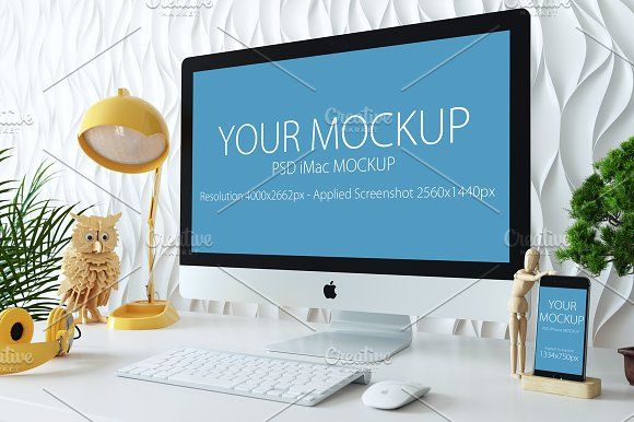 Download iMac and iPhone mockup