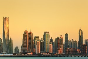 The beauty panorama of Dubai marina