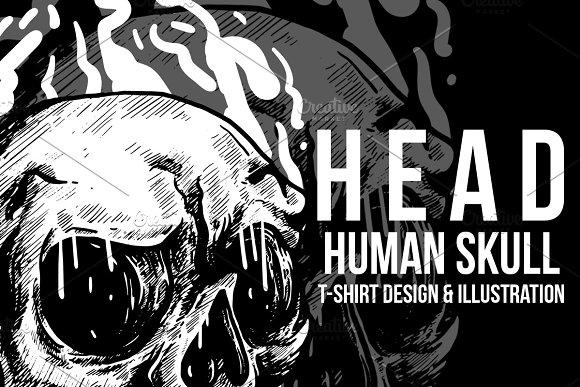 Head Human Skull Illustration