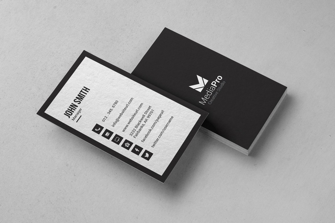 Simple minimal business card business card templates creative market colourmoves