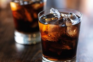 iced cola in glass
