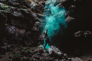 Smoke Bomb Cave (Portrait)