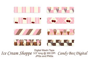 Ice Cream Shoppe Digital Washi Tape