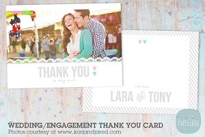 AW015 Wedding Thank You Card