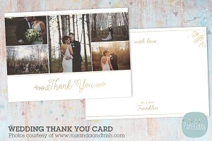 AW022 Wedding Thank You Card