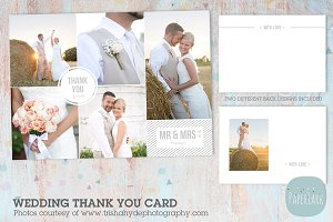 AW021 Wedding Thank You Card
