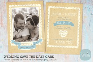 AW005 Wedding Save the Date Card
