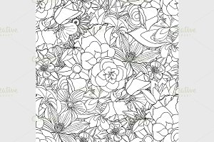 flowers seamless pattern.