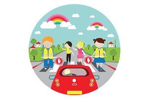 Road Safty Vector Illustration