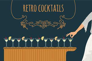 retro cocktails