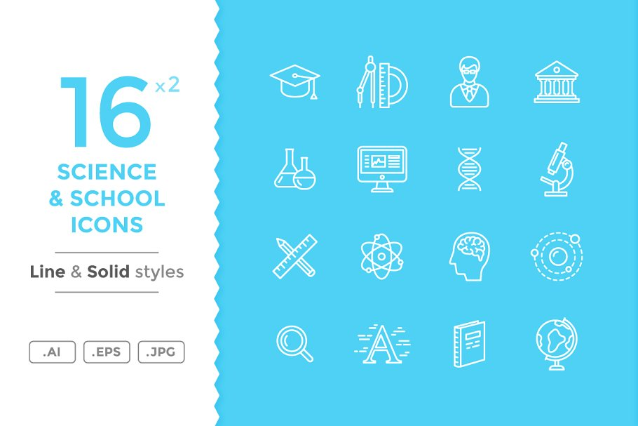 Science and School Icons