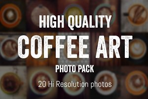 Daily Coffee Art Photo Pack
