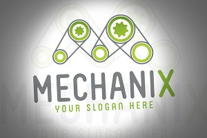 Mechanix Game Engine Logo Template