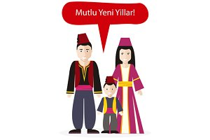 Turks People Happy New Year