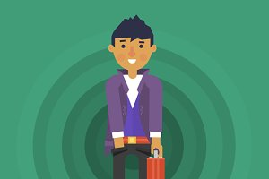 Young Businessman Character Design