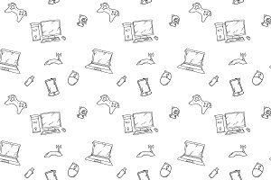 doodles of electronic gadgets