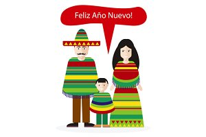 Mexicans People Happy New Year