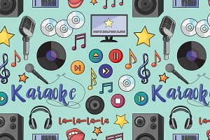 Theme of karaoke pattern