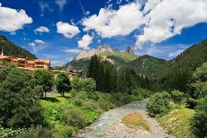 Avisio stream in val di Fassa, Italy