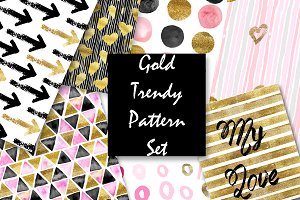 Gold pattern set