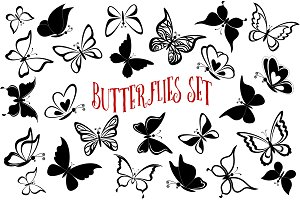 Butterflies Sets and Seamless