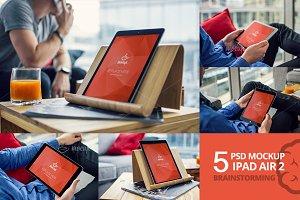 5 PSD Mockup iPad Air Brainstorming