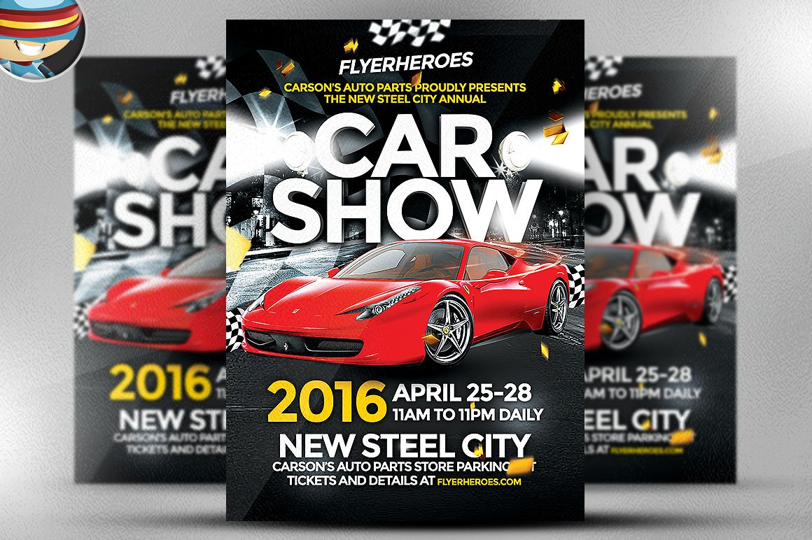 Car Show Flyer Template Flyer Templates on Creative Market – Car Show Flyer Template