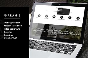 Aramis - One Page Parallax Template