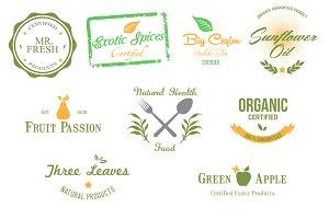 9 Organic Badges