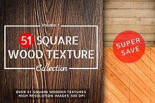 51 Square Wood Texture Vol.1
