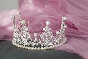 Wedding vintage crown of bride