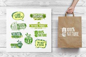 Nature/organic Logos Set