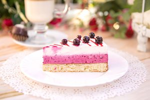 Сheesecake with  black currant