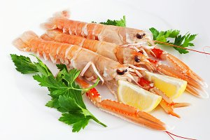 prawns with lemon and parsley