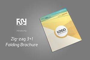 Zig-zag 3+1 Folding Brochure
