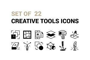 Set Of 22 Creative Tools icon